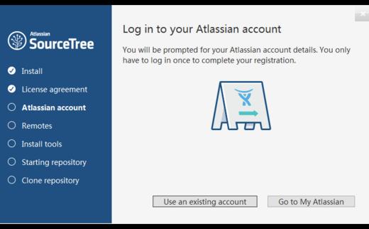 SourceTree跳过Atlassian账号,免登陆,跳过初始设置